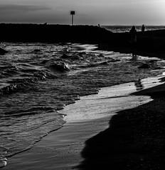 21 heures in august (jemazzia) Tags: extrieur outside plage mditerrane mer sea monochrome blackandwhite blancetnoir