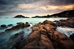 rendezvous (azrudin) Tags: redang island rock stone beach boats sunset longexposures azrudinphotography