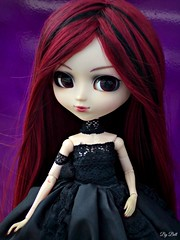 Happy Birthday, Moon!! (Bell) Tags: pullip bloody red hood moon rosenthal gothic groove doll happy birthday