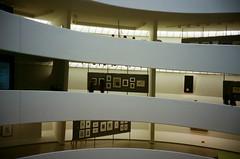 Staircase 1 (Jim Davies) Tags: photography analogue film veebotique 35mm kodak portra 160asa c41 newyorkcity nyc newyork manhattan bigapple compact filmfilmforever olympus accura zoom 80 dlx guggenheim museum staircase spiral