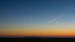 Vénus & Moon (schmittarnaud) Tags: nuit paysage couché soleil lune vénus moon seineetmarne mormant sunset night d5300 1835 f18 france