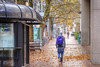 Autumn In The City (Ian Sane) Tags: ian sane images autumninthecity man walking fall autumn leaves downtown portland oregon southwest 5th avenue salmon street photography candid bokeh canon eos 5d mark ii two camera ef70200mm f28l is usm lens