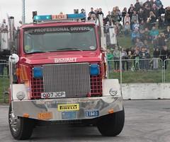 Santa Pod Flame & Thunder October 2016 (405) (Bristol Viewfinder) Tags: backdraft wheeliefiretruck ultimatemotorstunts pirelli monster trucks swampthing podzilla santapod