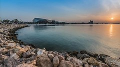 Shikh Jaber Al Ahmad Cultural Center Opening FireWorks (AFM1181) Tags: night beach sea gulf           opera shikhjaberalahmadculturalcenter q8 kuwait fireworks