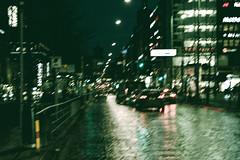 Street (Jori Samonen) Tags: street car light dark people building railing reflection wet mannerheimintie helsinki finland tree tram stop nikon d3200 180550 mm f3556 van