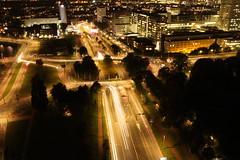 Autolichter (laurahemm) Tags: lights auto cars rotterdam euromast city citylights tower night street