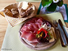 Almost too beautiful to eat...almost... (GSB Photography) Tags: italy prosciutto almgasthof ütiadebörz dolomites peitlerkofel iphone food plating lunch yummy tasty 100v10f 250v10f 500v20f saariysqualitypictures