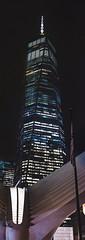 Freedom Tower Pano (tausigmanova) Tags: panorama pano nikon d3300 manhattan new york city nyc urban skyline night nightphotoraphy world trade wtc freedomtower freedom tower oneworldobservatory longexposure