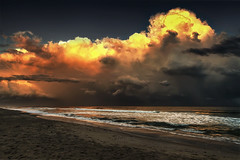 Something Wicked That Way Goes  (Redux) (NYRBlue94) Tags: storm weather ocean rain severe atlantic north carolina hdr