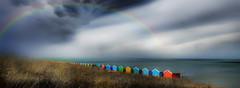 Sheerness Kent UK (Reg Wilson ( catching up)) Tags: kent sheerness sea beachhuts rainbow weather