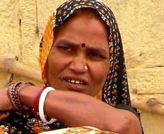 Woman at the ghat (bokage) Tags: india uttarpradesh benares ghat woman ganga river ganges varanasi pilgrim religion hindu hinduism bokage