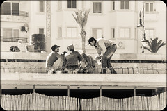 Workmen in Tangier (KopeX) Tags: morocco kingdomofmorocco nathanreynolds nreynolds kopexflickr nathanreynoldsflickr sonya77 tangier tanger tangiers blackandwhite monochrome