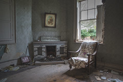 You can have a silence full of words. (climbing the walls) Tags: emptyhouse photoframe schoolphoto picture oldarmchair fireplace window green clutter sunlight daylight lonely handbag beautiful lostsoul atimelonggone hope