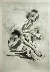 Aitzende, angezogene Beine,Hand umfasst Fuss (Alemwa) Tags: alemwa berlin kreuzberg skezching zeichnung zeichnen sketch nude akt aktzeichnung frau woman lifedrawing zeichnennachmodell