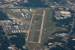 DeKalb-Peachtree Airport (PDK) + MetLife Blimp (AndrewC75) Tags: airport pdk dekalbpeachtree peachtreedekalb peachtree dekalb overview blimp metlife