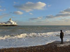 On the beach (moley75) Tags: adam beach eastsussex eastbourne eastbournepier gormley kingcanute seafront wp