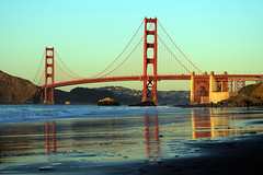 That Bridge (JINfotografo) Tags: sanfrancisco sanfranciscobayarea california northerncalifornia goldengate goldengatebridge bakerbeach sunset nikon d7000
