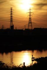 Sunset, Mt Fuji, Iron tower and Fisherman (huzu1959) Tags: a7ii alpha7ii sonya7ii alphaa7ii sonyalpha7ii sonyalphaa7ii sony toda saitama fuji japan