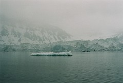 Glacier I (Simooooon) Tags: ocean film canon 50mm fuji ae1 glacier svalbard arctic longyearbyen northernmost spitzbergen svalbar