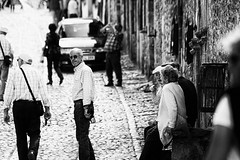 Santillana del mar (Irina Boldina) Tags: life street light shadow people blackandwhite bw espaa white black person photography p