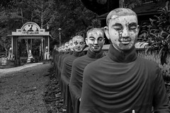 Untold Myanmar, Burma (mafate69) Tags: street bw statue asia southeastasia burma photojournalism documentary monk myanmar asie rue reportage streetshot birmanie moine documentaire boudhism photojournalisme boudhiste photoreportage boudisme asiedusudest hpaan blackandwhyte mafate69