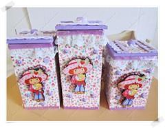 Kit De Caixinhas Para Quarto Infantil (CriarEreciclarArte) Tags: infantil fuxico tecido caixinha kitmdf tecidoartesanato2