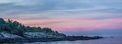 Perkins Cove Sunset (ejmoreno783) Tags: ocean pink sunset sea vacation sky beach landscape harbor moody cove maine wells perkins montville ogunquit marginalway