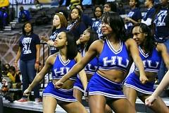 Hampton University cheerleaders (Kevin Coles) Tags: downtown cheerleaders scope pirates norfolk bluethunder cheer cheerleader hampton hu 2014 norfolkva hamptonuniversity hbcu meac meactournament