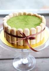 Green Tea Tiramisu (gwodesign) Tags: cake greenteatiramisu