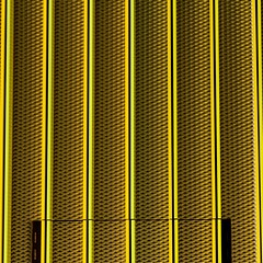 Mellow Yellow (No Great Hurry) Tags: door uk greatbritain england urban abstract building london art texture geometric lines yellow metal architecture facade canon square exposure flickr pattern arte bright mesh unitedkingdom britain camden metallic patterns capital structure symmetry minimal line urbanart mellowyellow squareformat gb minimalism amateur viacom urbanabstract shuttering 550d urbanarte cmwdyellow robinbarr archistract patternsinbuildings nogreathurry constructuralart jacobswebber robinmauricebarr