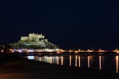 Gorey. (Lee1885) Tags: sea reflection castle water night dark nikon jersey mont channelislands gorey orgueil d7100