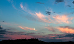 That's the Way it is with Dreams (2012) (VRileyV) Tags: sunset sky canada lowlight nt nwt northwestterritories sunsetting bluepink skyclouds skyshot ingrahamtrail skytrees summer2012