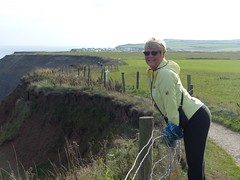 Checking the view (Mary&Neil) Tags: bodylanguage lady woman mary callipygian whitby