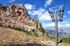 Gondola tower (Great Salt Lake Images) Tags: fall utah huntsville cables gondola snowbasinresort gondolatower needleslodge