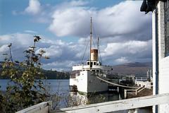 Maid of the Loch (bows-on) at Balloch Pier. Oct'76. (David Christie 14) Tags: balloch lochlomond maidoftheloch
