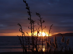 Kapiti sunset (Home Land & Sea) Tags: sunset newzealand beach nz wellington pointshoot sonycybershot kapiticoast raumati sooc homelandsea dschx100v