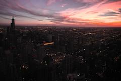 Atardecer de Chicago desde Torre Hanckock  3 (Garimba Rekords) Tags: chicago skyline atardecer arquitectura edificios torre panorámica eeuu hanckok