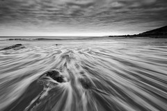 RUSH (T_J_P) Tags: longexposure blackandwhite beach clouds mono coast movement cornwall tide 1635 perranuthnoe leefilters