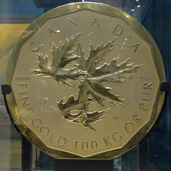 One Million Dollars (Maia C) Tags: metal circle gold coin canadian mineral disc rom royalontariomuseum maiac sonydschx1