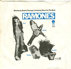 The Ramones - Rockaway Beach / Teenage Lobotomy / Beat On The Brat (1977) (stillunusual) Tags: artwork punk vinyl single ramones punkrock theramones 1970s 1977 sleeve newwave bside rockawaybeach teenagelobotomy picturesleeve beatonthebrat
