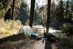 Idaho Hot Springs Mtb Route - 35mm (G. Bedard) Tags: hot film landscape mju kodak trix olympus idaho route ii springs mtb portra ihs bikepacking