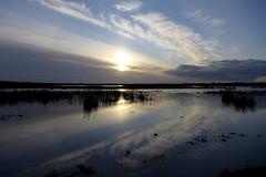 Pennington reflections (Bob at Blashford) Tags: sky clouds reflections hampshire lymington thesolent newforestnationalpark