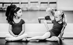 If looks could kill ... (William Gruner Photography) Tags: people blackandwhite bw ballet newmexico girl face portraits dof bokeh albuquerque depthoffield abq nm backgroundblur