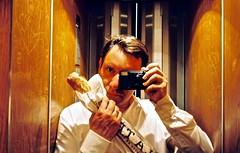 A la baguette - Bakery Selfie (Max Sat) Tags: portrait paris france film analog portraits french fuji autoportrait kodak elevator baguette 75006 135 portra klasse ascenceur selfie 38mm portra800 maxsat fujiklasses francais maxwellsaturnin