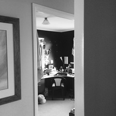 61. Somewhere #100daysproject (tigerlily4122) Tags: blackandwhite home office doorway sacredspace writingspace 100daysproject