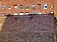 apparel (army.arch) Tags: philadelphia sign wall pennsylvania ghost pa faded apparel