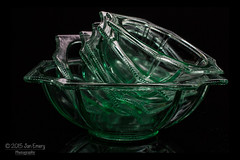 Granny's Dishes (Jamarem) Tags: old green glass fruit dessert treasure antique 40mm dishes bevelled canoneos70d 115picturesin2015