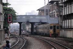 Thailand - Bangkok - Rama I Road (railasia) Tags: thailand bangkok viaduct depart signal infra nineties srt dmu metergauge manandrail series11001200