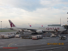 Qatar Airways B-777 in Kuala Lumpur Int'l Airport,Malaysia (Feras.Malaysia) Tags: airport international malaysia kuala boeing airways 777 lumpur qatar