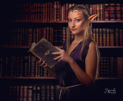 High Elf Scholar/Mage ft. Jenny and Ailiroy Creations: studying (SpirosK photography) Tags: portrait nikon photoshoot elf fantasy scholar mage highelf jenniferray fantasyphotoshoot spiroskphotography ailiroycreations